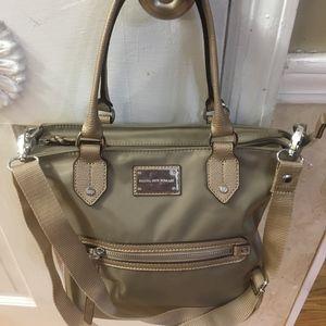 NWT Dana Buchman Gold Silk Fabric Handbag